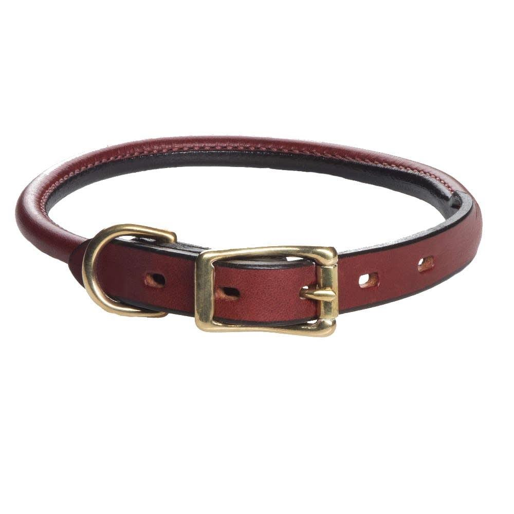 Mendota Leather Rolled Collar