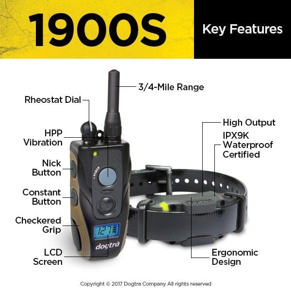 Dogtra 1900S System Key Features