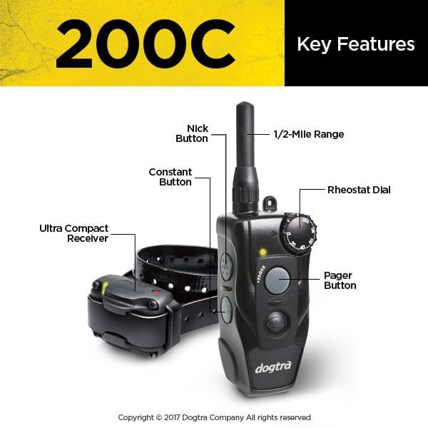 Dogtra 200C System Key Features