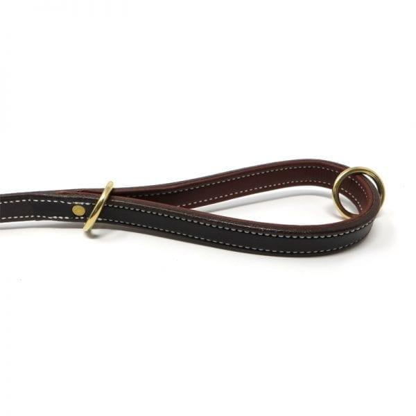 K-9 Komfort Dark Brown Latigo with Rust Cow Hide Premium Deluxe Leather Lead 4.5 ft and 6 ft