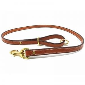 K-9 Komfort London Tan Deluxe Leather Lead