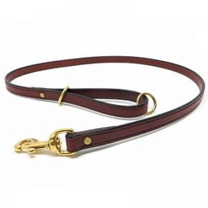 K-9 Komfort Mahogany Deluxe Leather Lead 4.5 ft and 6 ft