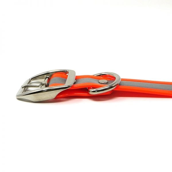 K-9 Komfort 1 Inch Reflective Orange Center Ring Collar