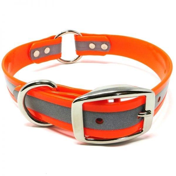 1 Inch Reflective Orange Center Ring Collar