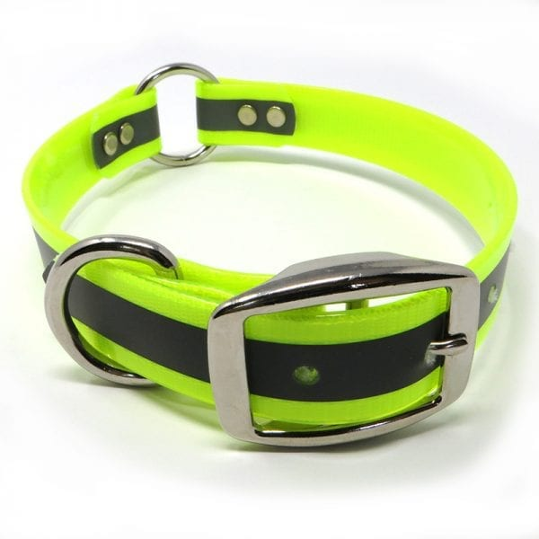 1 Inch Reflective Neon Yellow Center Ring Collar