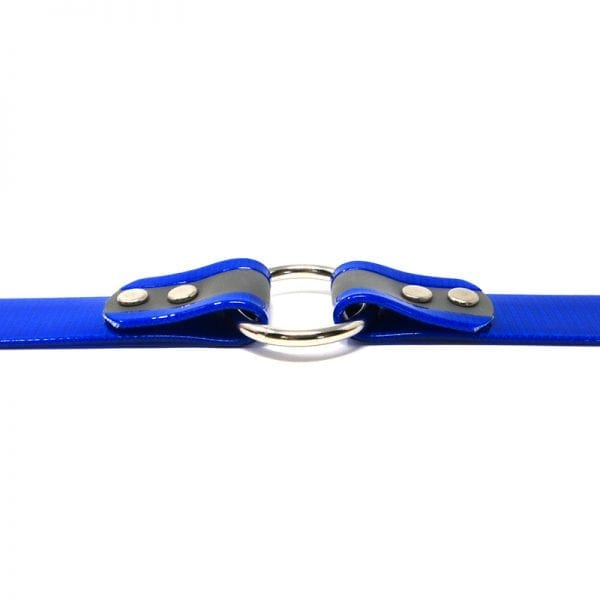 K-9 Komfort 1 Inch Reflective Blue Center Ring Collar