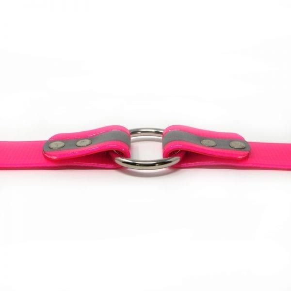 K-9 Komfort 1 Inch Reflective Pink Center Ring Collar