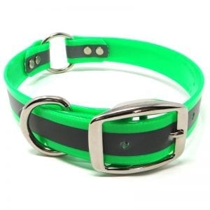 1 Inch Reflective Neon Green Center Ring Collar