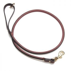 Mendota Rolled Leather Snap Leash