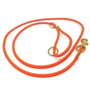 K-9 Komfort TufFlex Orange Round Lead 4 ft and 6 ft