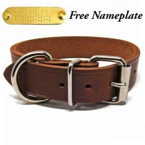 1 1/4 Inch Leather Collar