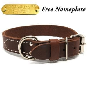 1 1/4 Inch Deluxe Leather Collar