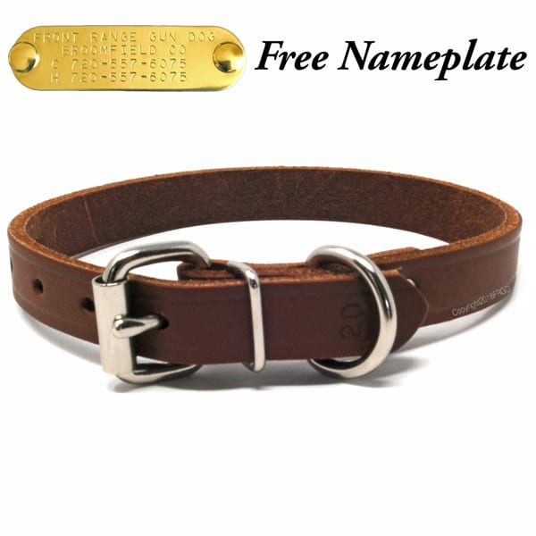 3/4 Inch Leather Collar