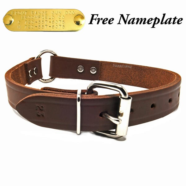 1 Inch Leather Center Ring Collar