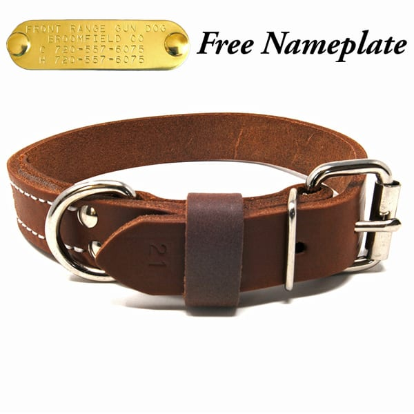 1 Inch Deluxe Leather Collar