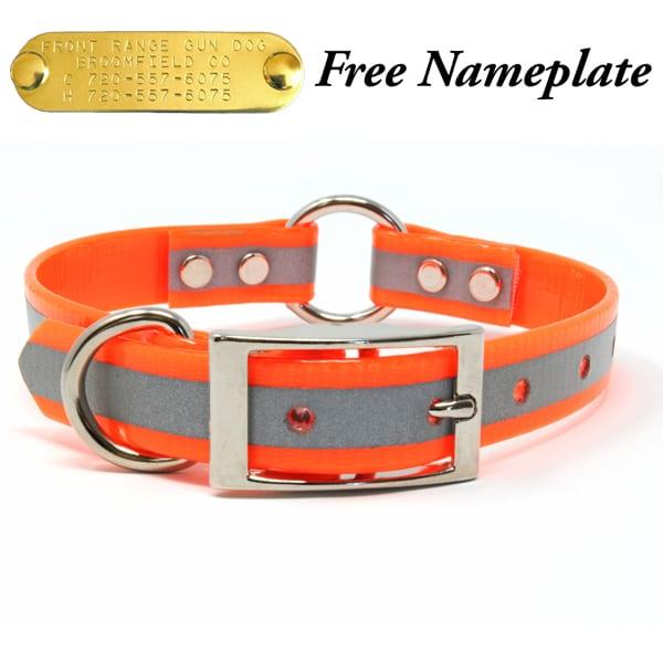 3/4 Inch Reflective Orange Center Ring Collar