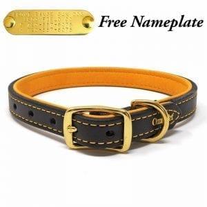 3/4 Inch Deer Tan Latigo Leather Collar