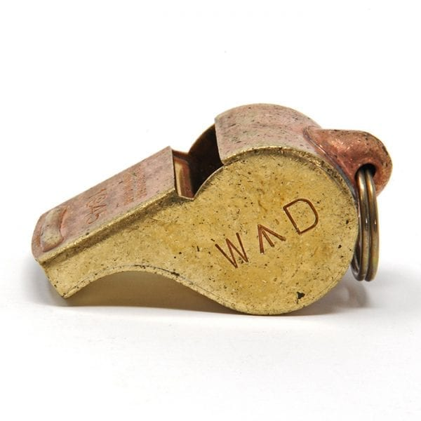 Acme Thunderer 58 Broad Arrow WD 1945 Distressed