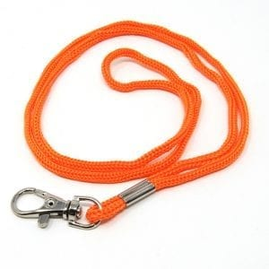 Swivel Hook Neck Lanyard Orange