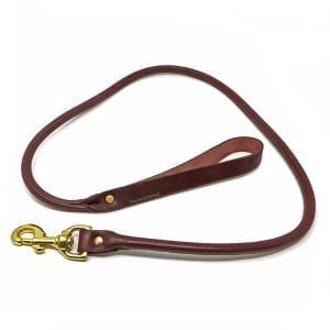 Round Latigo Leather Lead