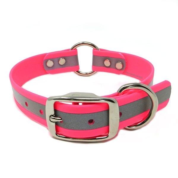 1 Inch Beta Reflective Collar RIC Neon Pink