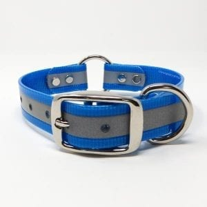 1 Inch Reflective Light Blue Center Ring Collar